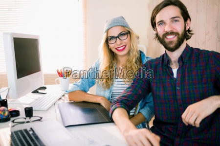 creative business partners working together