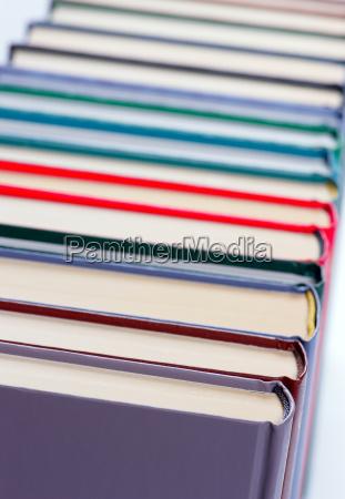 binding of a book closeup shallow