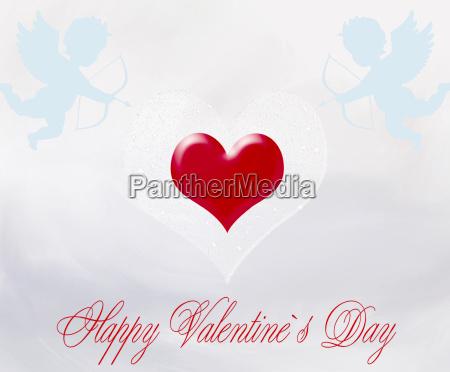 happy valentines day romantic illustration valentines