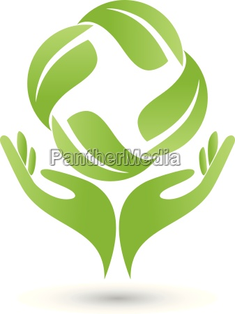 four leaves and hands logo naturopath