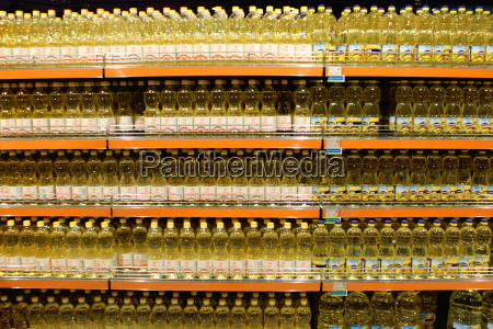 sunflower seed oil in the shelves