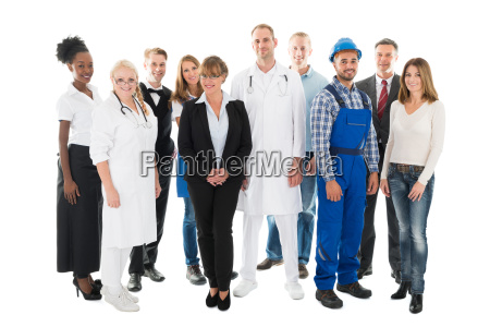 group portrait of confident people with