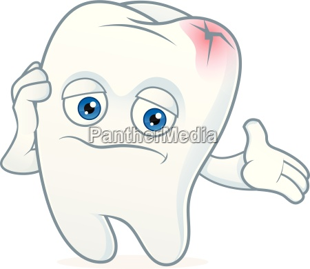 tooth cartoon mascot