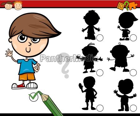 sombras tarea dibujos animados para ninyos