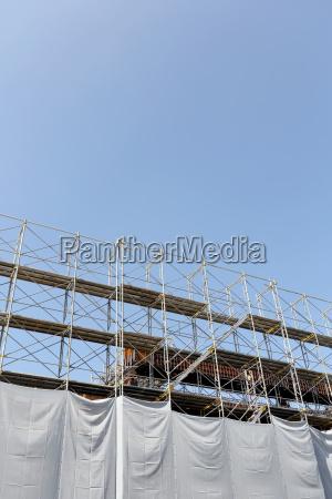 new building construction construction site fence