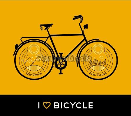 bike concept bicycle line art nature