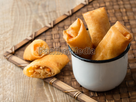 rustic, golden, chinese, spring, rolls - 15783774