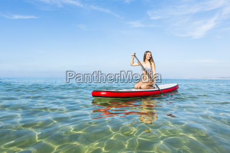 woman, practicing, paddle - 15783236