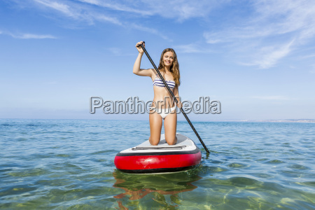 woman, practicing, paddle - 15783238