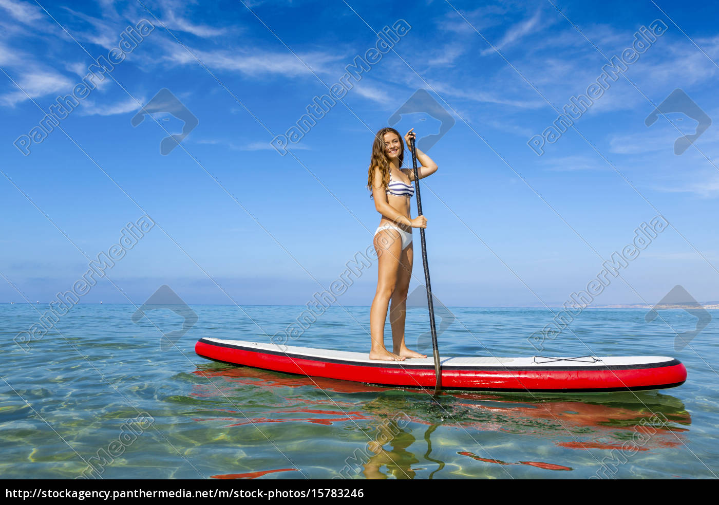 woman, practicing, paddle - 15783246