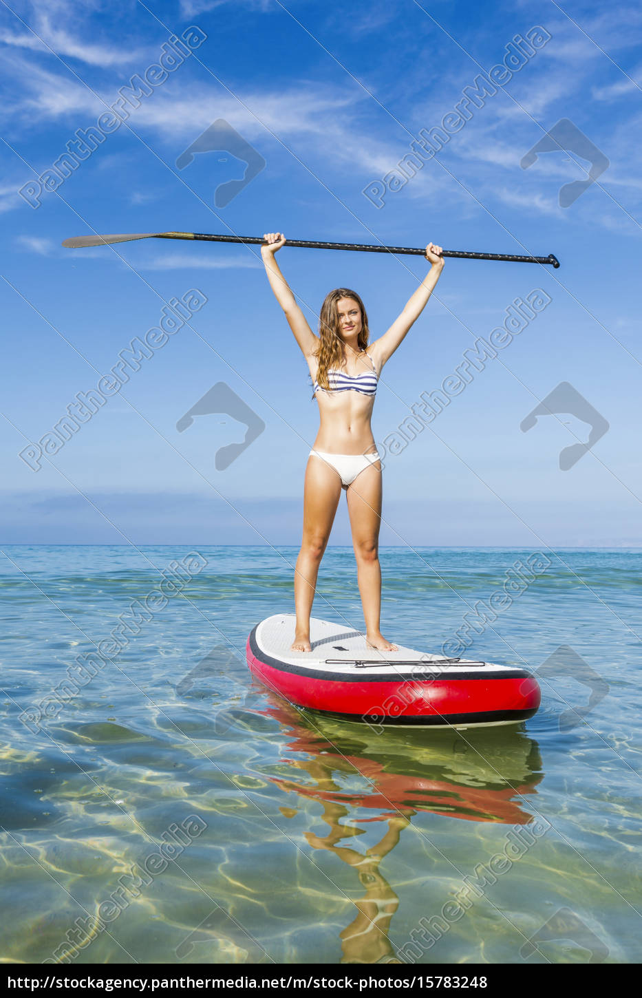 woman, practicing, paddle - 15783248