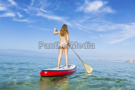 woman, practicing, paddle - 15783250