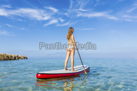 woman, practicing, paddle - 15783252