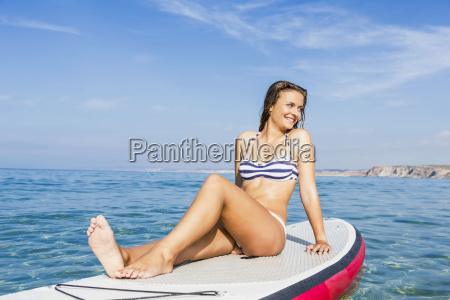 woman, practicing, paddle - 15783260