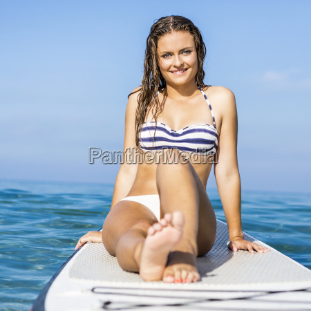 woman, practicing, paddle - 15783266