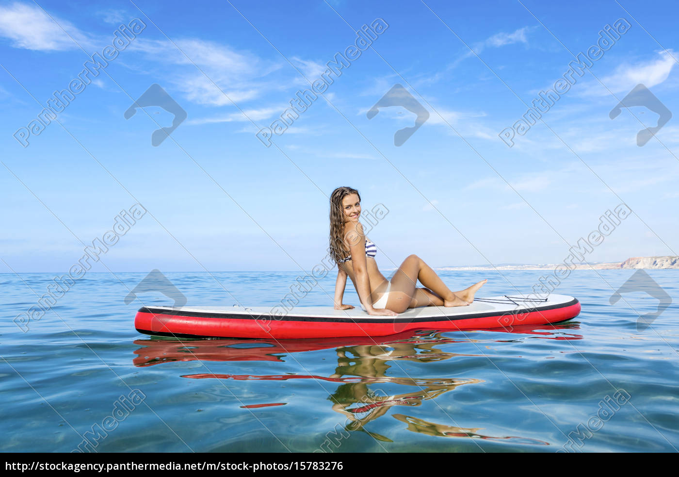 woman, practicing, paddle - 15783276
