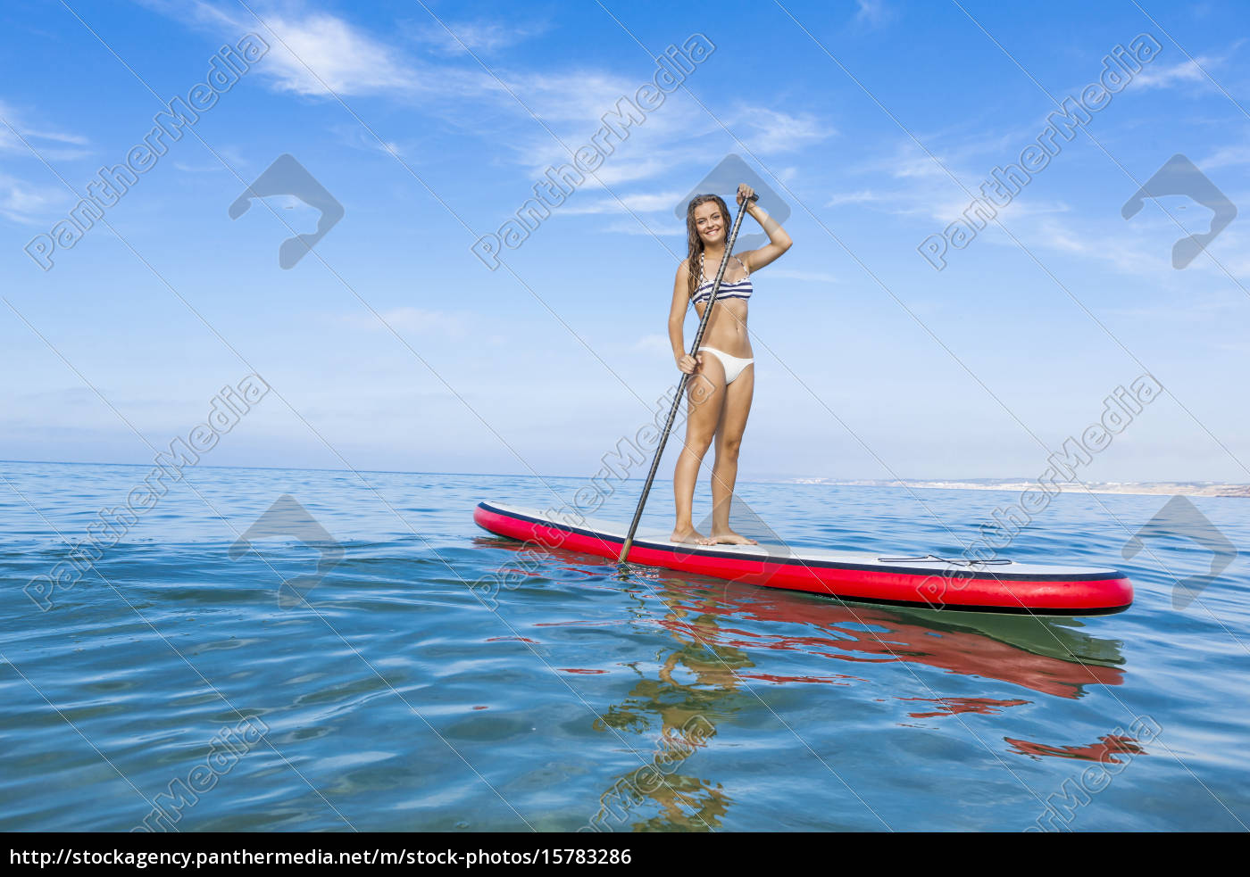 woman, practicing, paddle - 15783286
