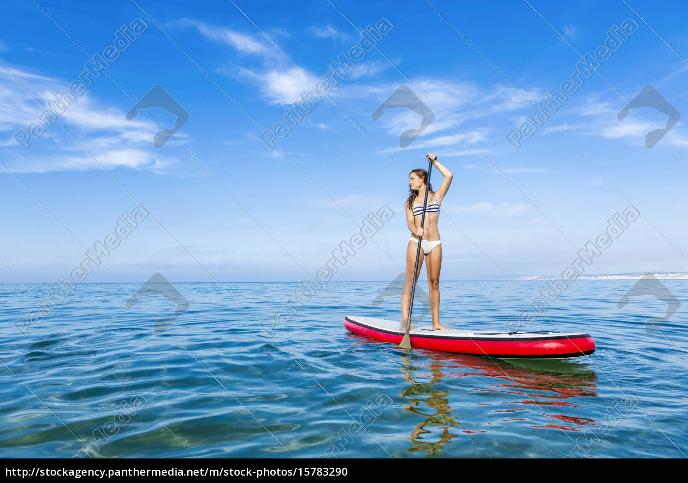 woman, practicing, paddle - 15783290