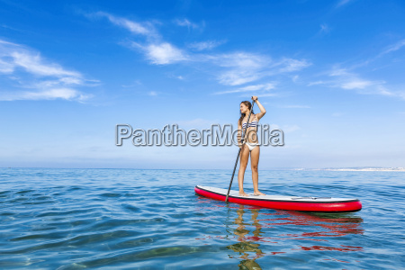 woman, practicing, paddle - 15783292