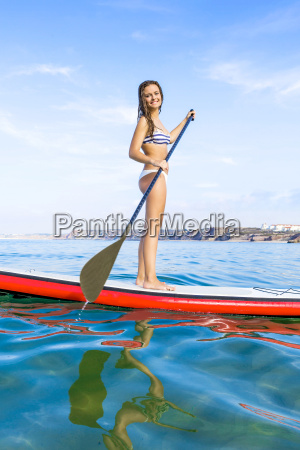 woman, practicing, paddle - 15783294