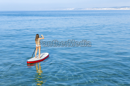 woman, practicing, paddle - 15783296