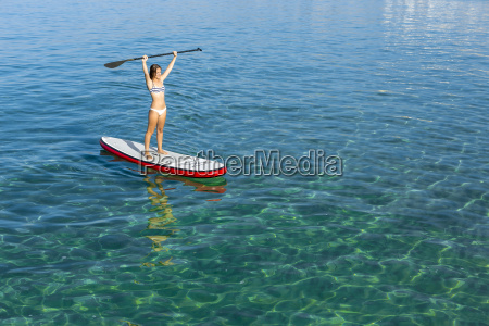 woman, practicing, paddle - 15783300