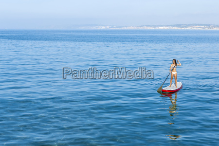 woman, practicing, paddle - 15783302