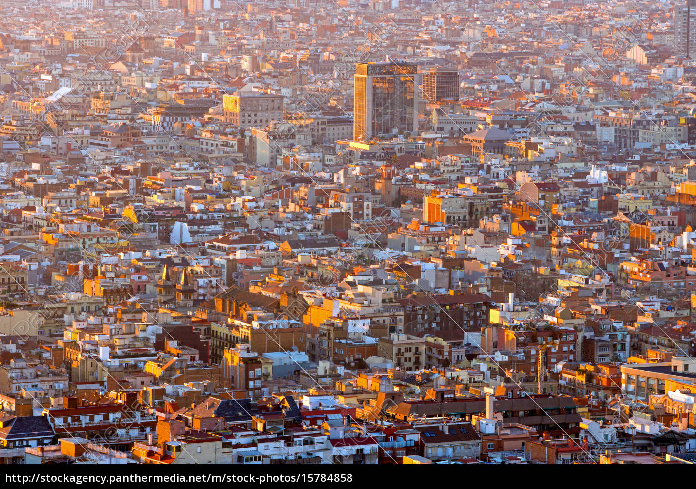 view, over, the, rooftops, of, barcelona - 15784858