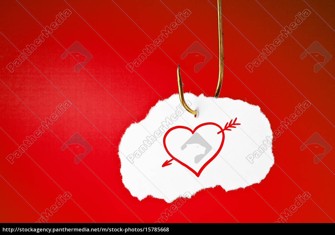 hooked, heart, with, arrow, concept - 15785668