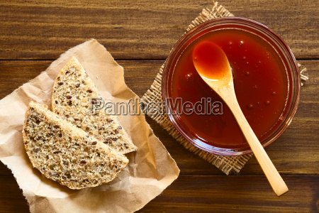 rose, hip, jam, and, bread - 15785006