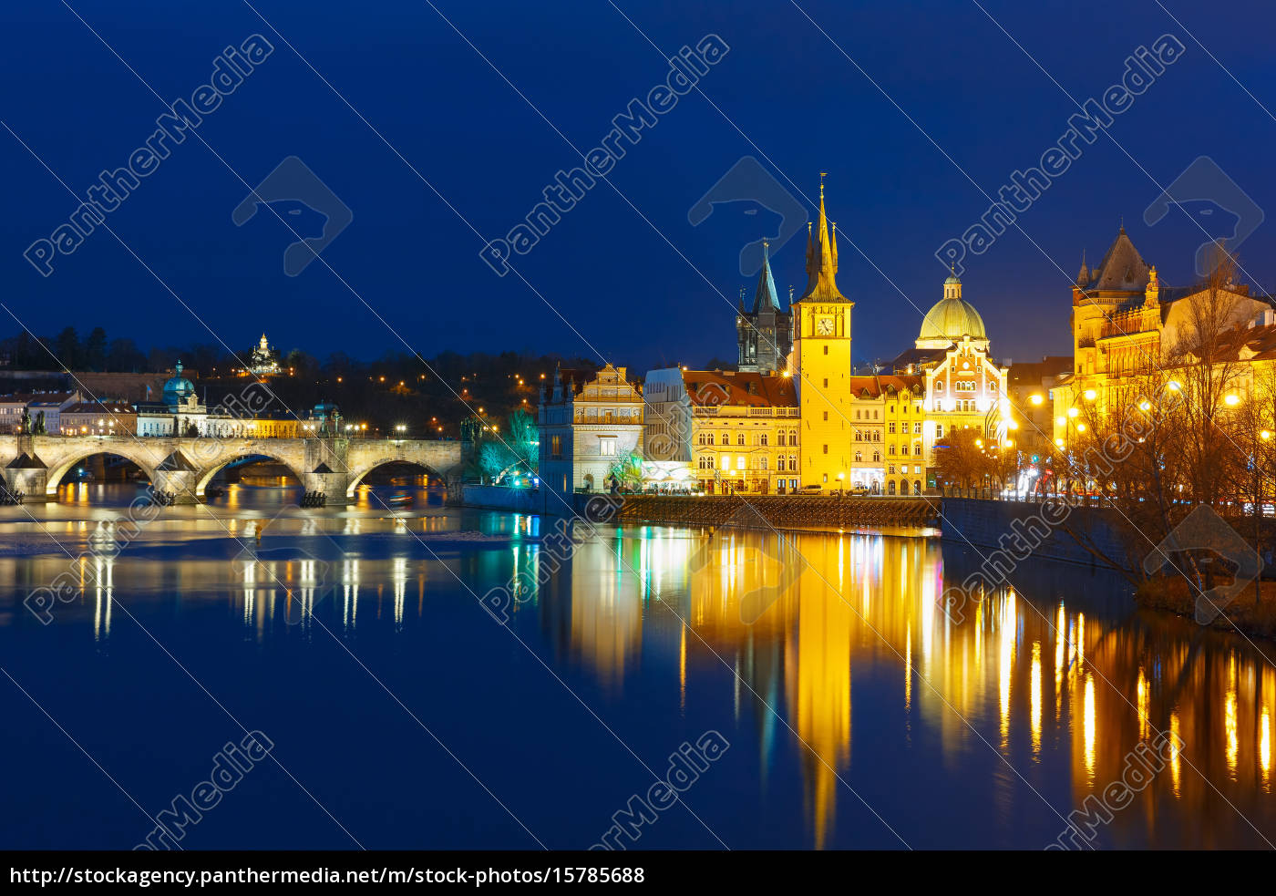 vltava, river, and, old, town, at - 15785688