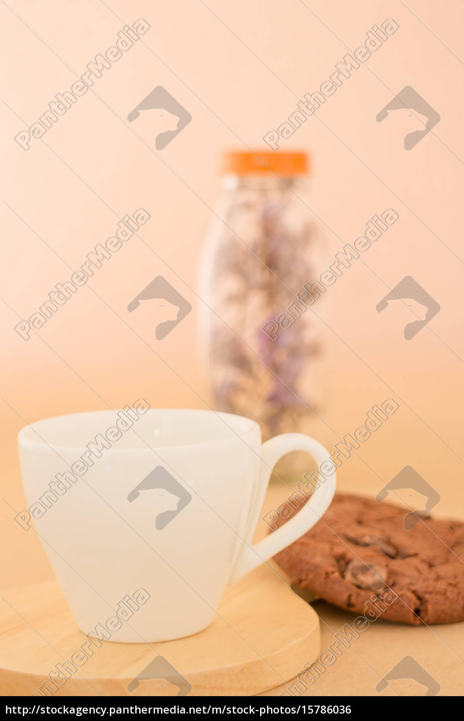 beautiful, white, coffee, cup, on, romantic - 15786036