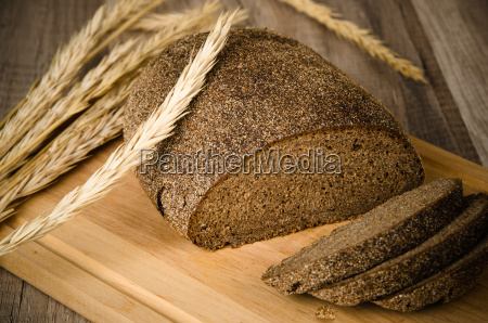 black, homemade, bread, and, rye, cones, - 15786370