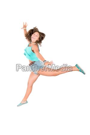 jumping, girl - 15786256