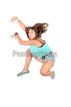 jumping, girl - 15786260