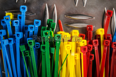 set, colored, cable, ties, , close, up - 15786372