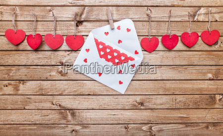 love concept hearts and love letter