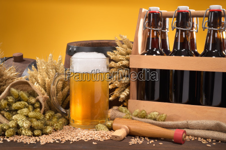 beers, with, beer, glass - 15787254