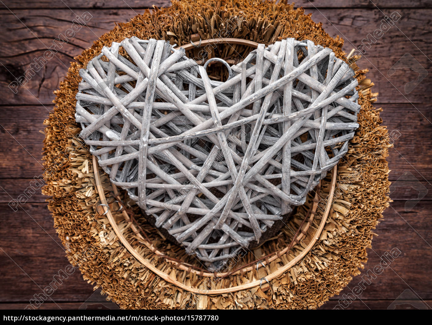 large, heart, in, a, basket, on - 15787780