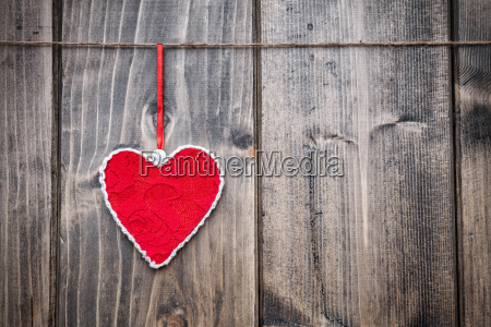 love, concept., heart, hanging, on, a - 15787840
