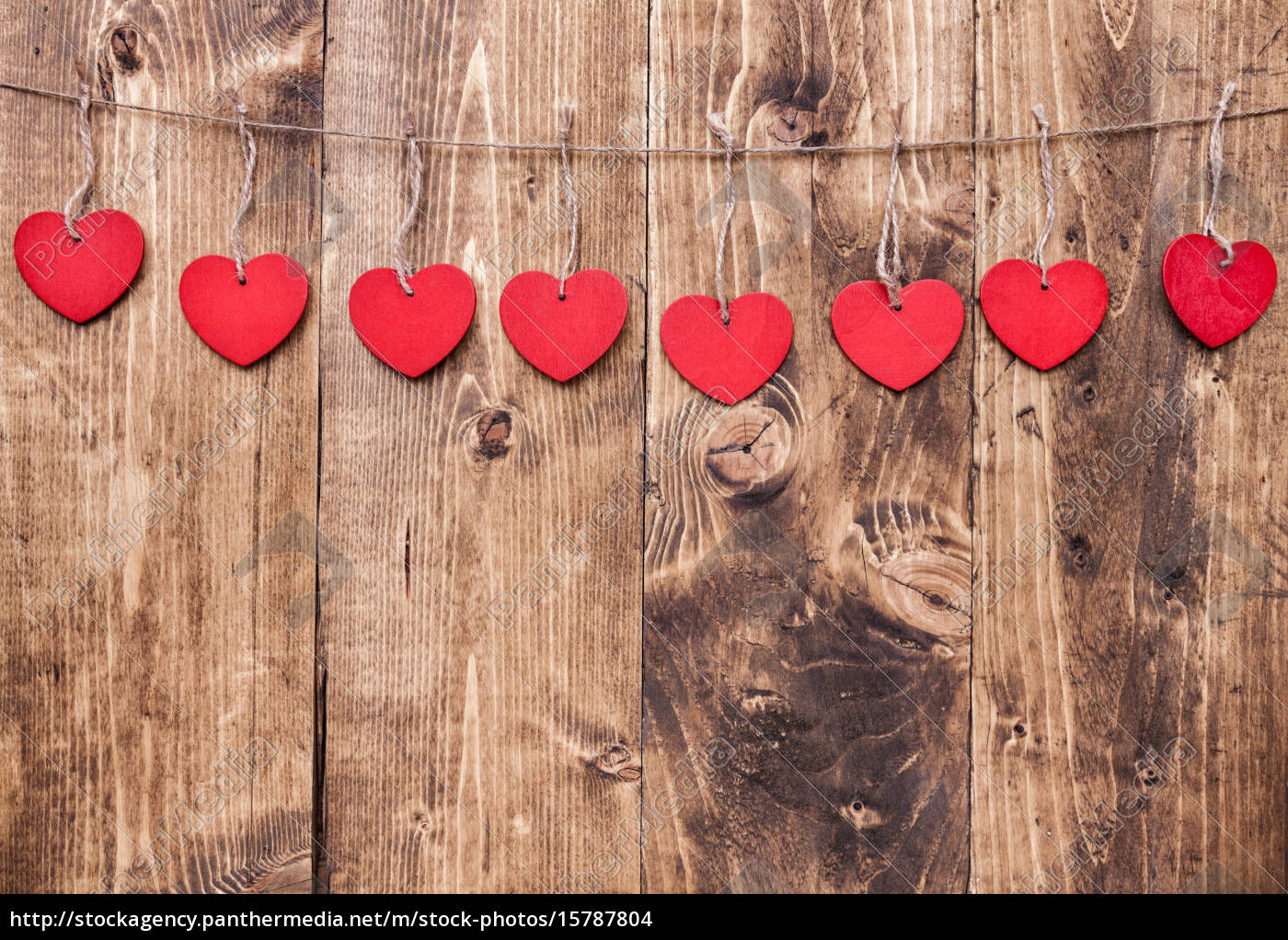 love, concept., hearts, hanging, on, a - 15787804