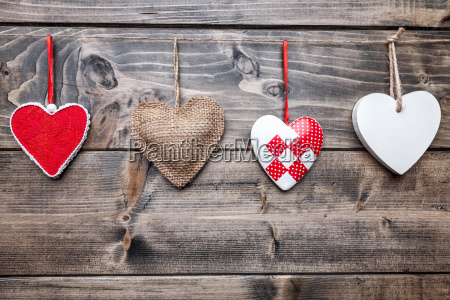 love, concept., hearts, hanging, on, a - 15787814