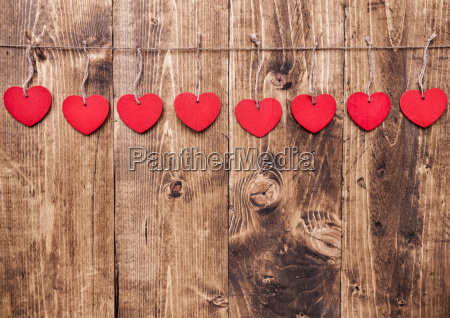 love, concept., hearts, hanging, on, a - 15787820