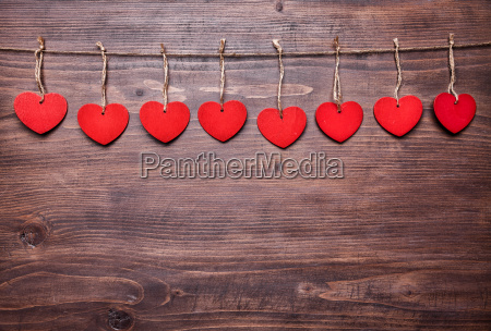 love, concept., hearts, hanging, on, a - 15787838