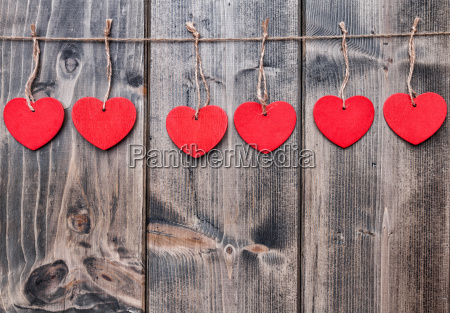 love, concept., hearts, hanging, on, a - 15787842