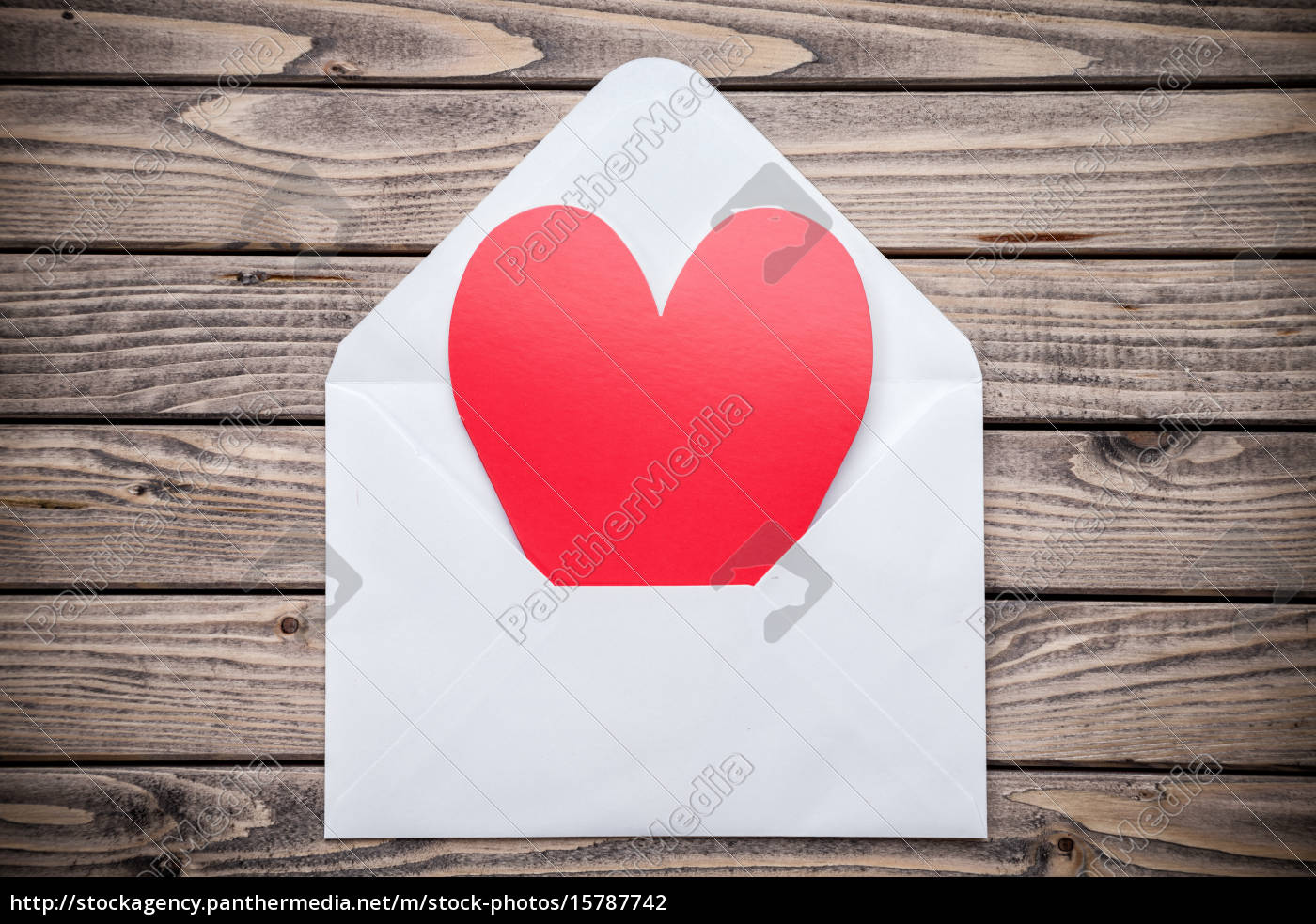 love, letter, on, a, wooden, background - 15787742