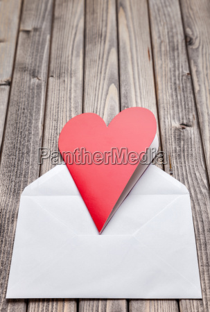 love, letter, on, a, wooden, background - 15787748