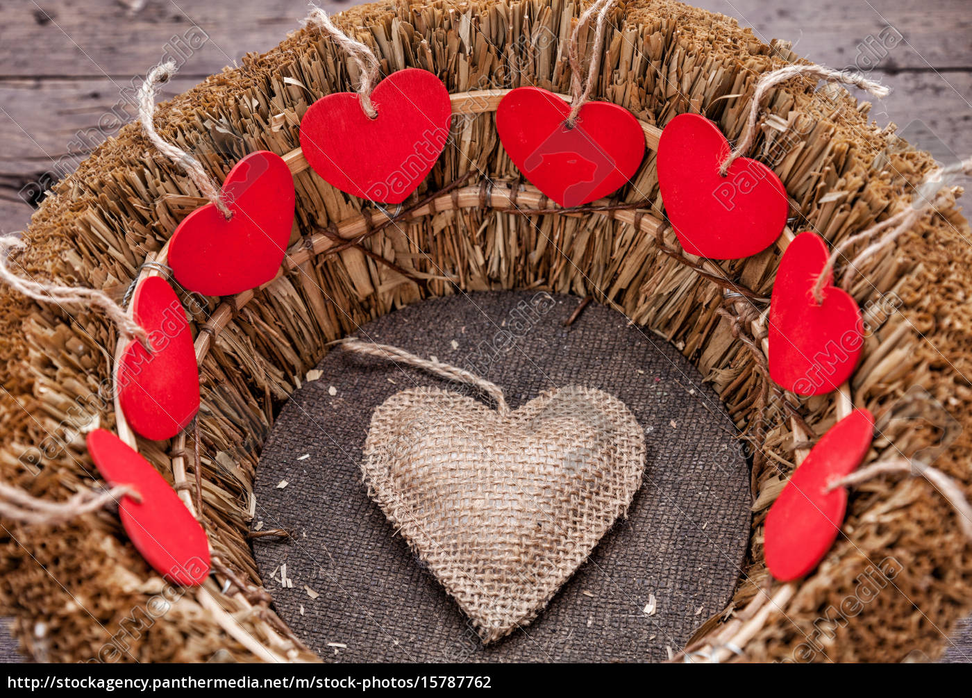 many, hearts, inside, a, wooden, basket - 15787762