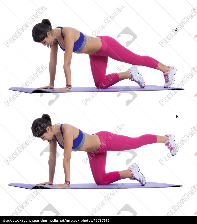 plank, bent, leg - 15787616