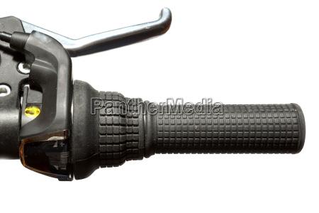 black bicycle handle